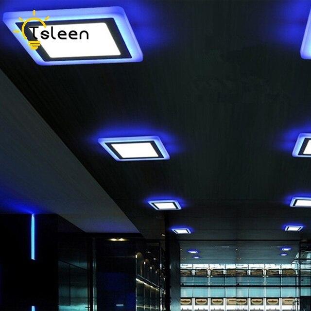 € 8.2 29% de réduction Pas cher salle de bains plafonnier encastré à LEDs  220 V panneau LED double couleur salon lumières éclairage intérieur ...