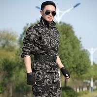군사 유니폼 전투 블랙 호크 위장 육군 자켓 + 카고 팬 남성 전술 CS 유니폼 군사 작업복 여성