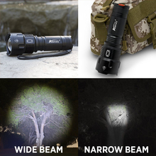 Albinaly Powerful LED Flashlight CREE XML-T6 10000 Lumens Zoomable Waterproof Torch for 26650 Rechargeable or AA Battery