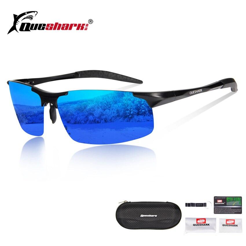 ac2deab1eb Queshark ultraligero TR90 polarizadas ciclismo gafas de sol de aluminio de  magnesio de Camping pesca gafas de montaña bicicleta de carretera gafas