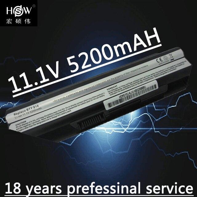 HSW 6 תאי סוללה עבור 40029150 40029231 40029683 BTY S14 BTY S15 E2MS110K2002 E2MS110W2002, E2MS115K2002 MSI6A200SSSA1 bateria