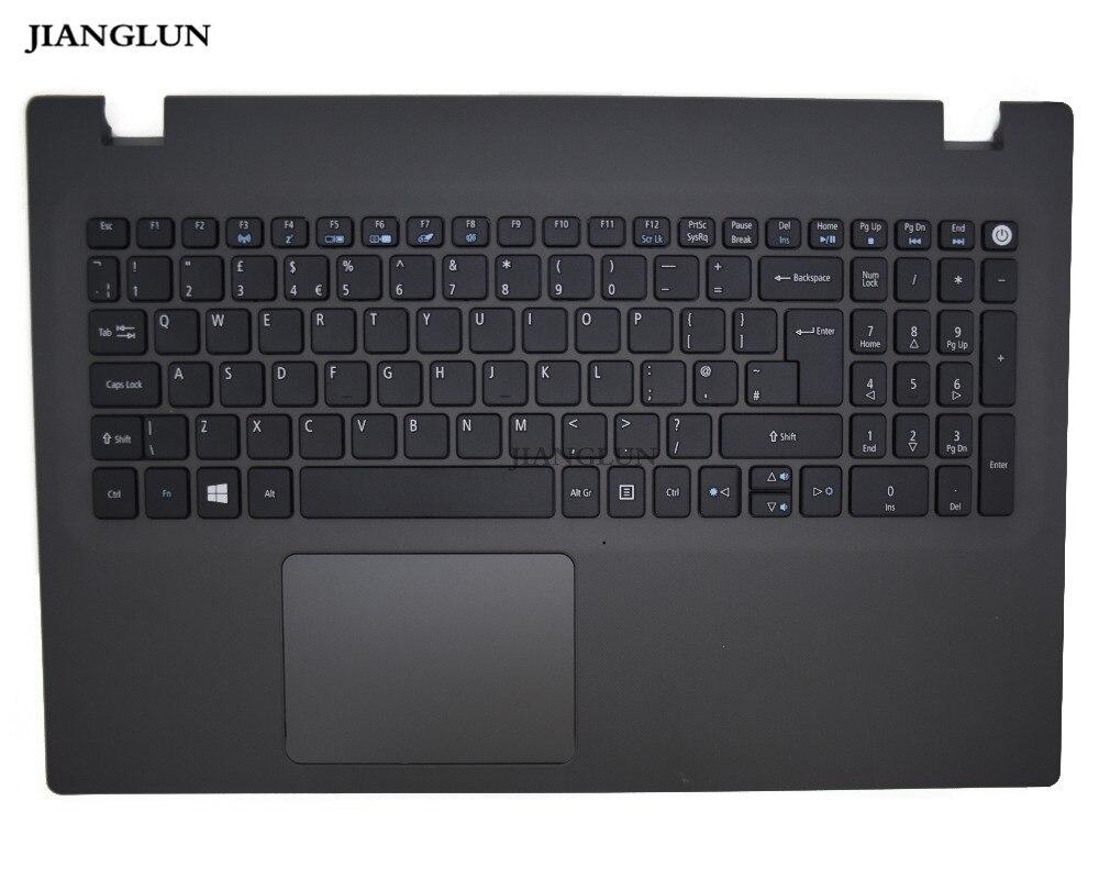 JIANGLUN Novo Para Acer N15Q1 E5-573 Palmrest (Top Case) Com Teclado Touchpad versão Negro cor Big Enter