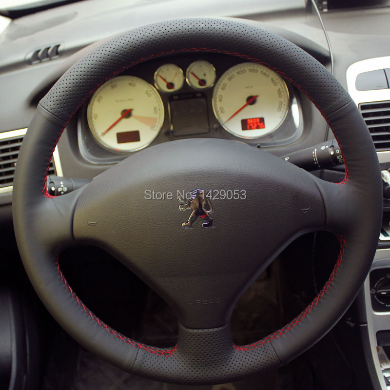 case for peugeot 307 steering wheel covers genuine leather diy