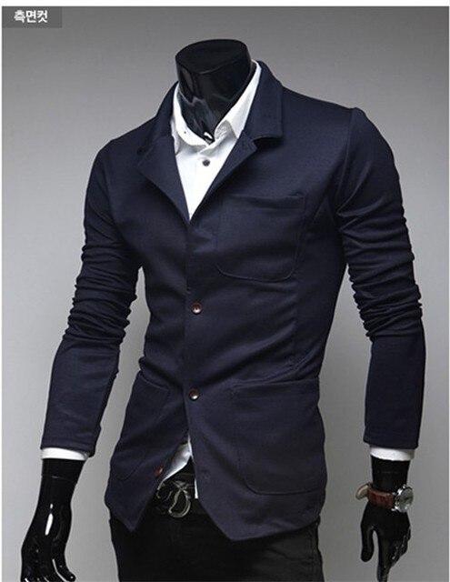 QXY модные мужские костюмы однобортный тонкий вскользь вязание пиджак для мужчин штатском бренды дизайнер одежды 5639