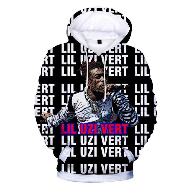 938dfeaf236 Men Women Casual 3D Print Clothing Lil Uzi Vert Hoodie Sweatshirt Long  Sleeve Unisex Harajuku Sudadera Pullover Coat