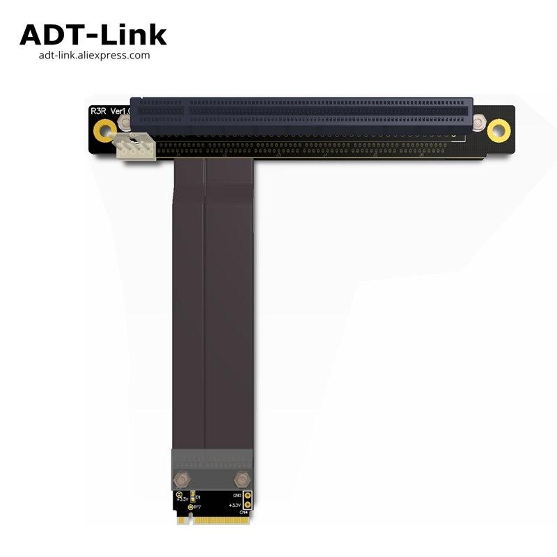 M.2 NGFF NVMe Key M câble d'extension vers PCIE x16 adaptateur de Riser de carte graphique 16x PCI-e pci-express pour M2 2230 2242 2260 2280
