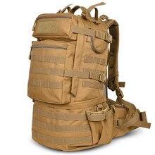 45L Hombres Mujeres Bolsa Rifle Táctico Militar Del Morral Que Acampa Yendo Trekking Deporte Al Aire Libre Viaje Mochilas de Escalada Bolsas S072