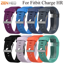 For Fitbit Charge HR Replacement Watch Strap Silicone Watchband for Activity Tracker Metal Buckle Wrist Band