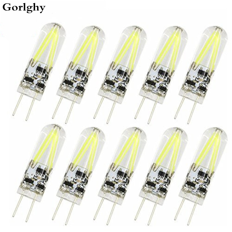 Us 9 24 34 Off 10pcs Lot 3w G4 150lm G4 Led Bi Pin Lights 2 Leds Cob Led Light Warm Cold White Led Filament Bulb For Chandelier Bombil Ac Dc 12 In
