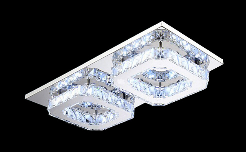 Free Shipping Modern Led Ceiling Lights Ceiling Lamp Flush Mount Crystal Light 90-265V Surface Mounted Hallway Light 16W