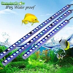 Popular 54 W/81 W/108 W tira de luz Led de acuario en iluminación led de alta potencia acuario hermosa tu lámpara de tanque de peces de arrecife de coral