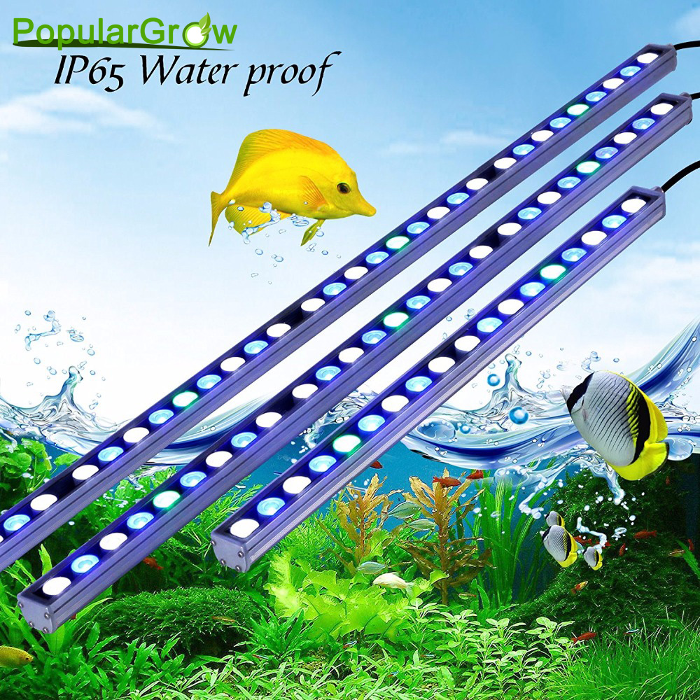 Populargrow 54W/81W/108W Led Aquarium Strip Light In High Power Aquarium Led Lighting Beautiful Your Coral Reef Fish Tank Lamp