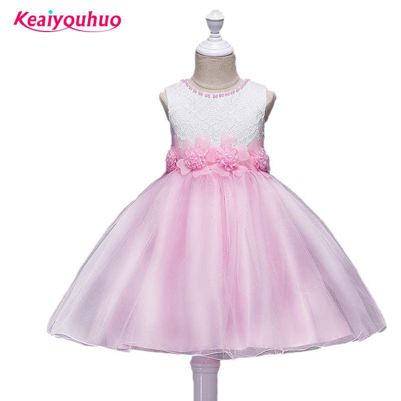Girl Dress Kids Wedding Bridesmaid Children Girls Dresses Summer 2016 Evening Party Princess Costume Lace Teenage girls clothing