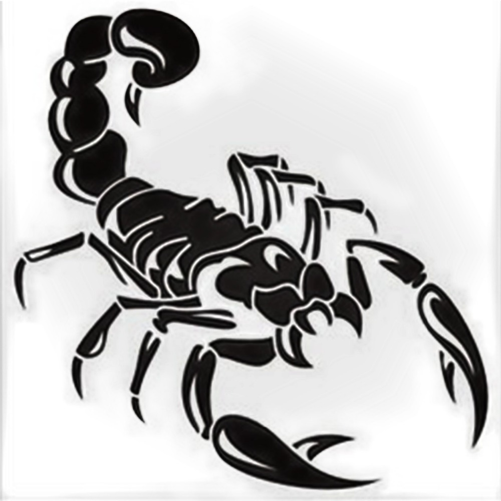 100pcs Wholesale Waterproof Scorpion Car Stickers And Decals Tribal