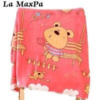 Thicken Double Layer Baby Blanket Velvet Infant Swaddle Envelope Stroller Wrap Sleeping Blanket Baby Bedding Blankets 100*140cm