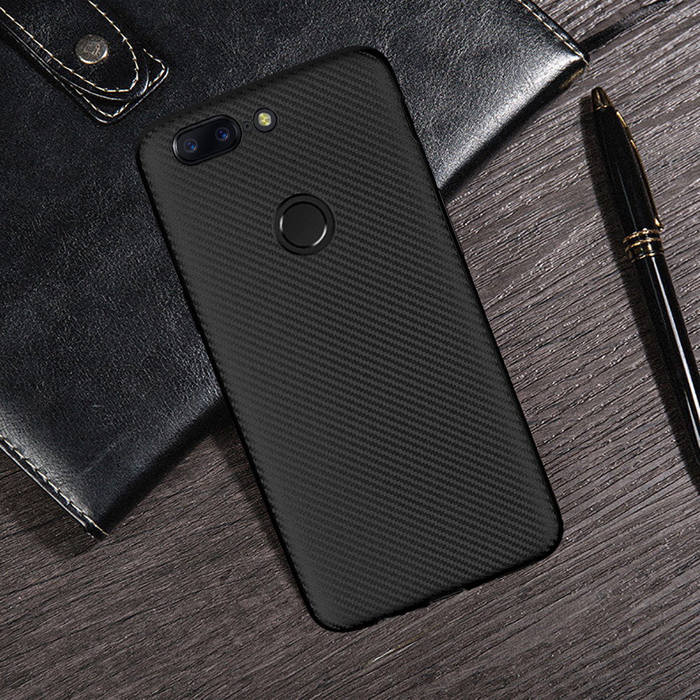 HATOLY For Fundas Oneplus 5T Case 6.01 One Plus 5T Ultra-thin Soft TPU Carbon Fiber Back Cover for Oneplus 5T 1+5t A5010 image