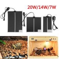 220V 7W / 14W / 20W Reptile Vivarium Heat Mats Heating Thermostat Snake Lizard Wearable Electronic Heating Mats Pet Heating Pad