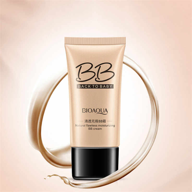 Bioaqua Natural Bb Cream Whitening Pelembab Concealer Nude Foundation Makeup Kecantikan Wajah