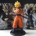 Anime Dragon Ball Z Resolución De Soldados ROS Super SaiYan Goku PVC Figura Modelo de Juguete