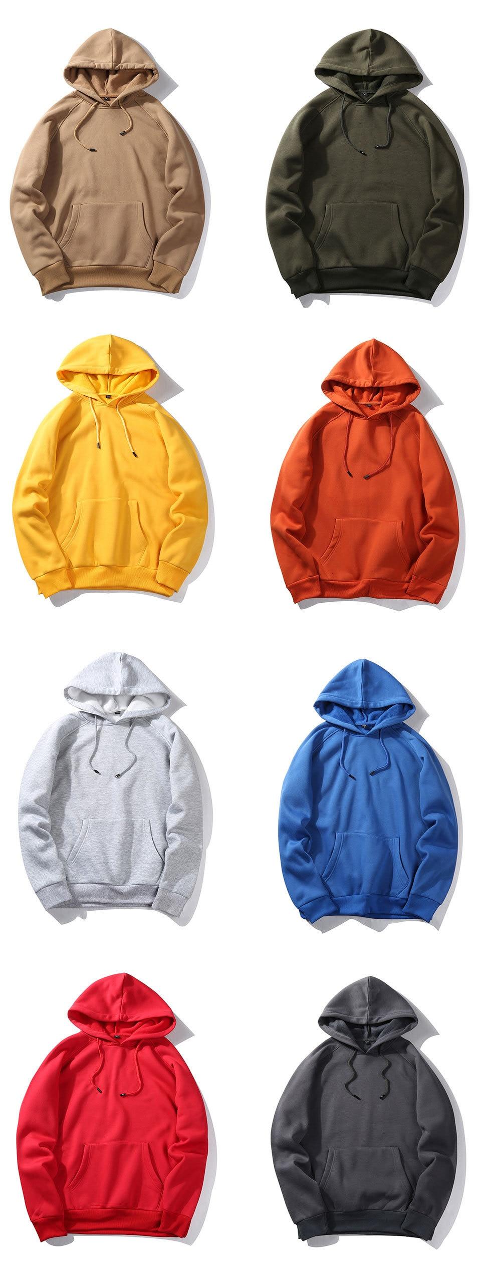 Fashion Hoodies Male Warm Fleece Coat Hooded Men Brand Hoodies Sweatshirts 16