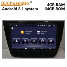 Ouchuangbo android 8.1 gps navigation radio recorder for MG ZS 2018 with 10.1 inch audio player 8 core 4GB RAM 64GB ROM