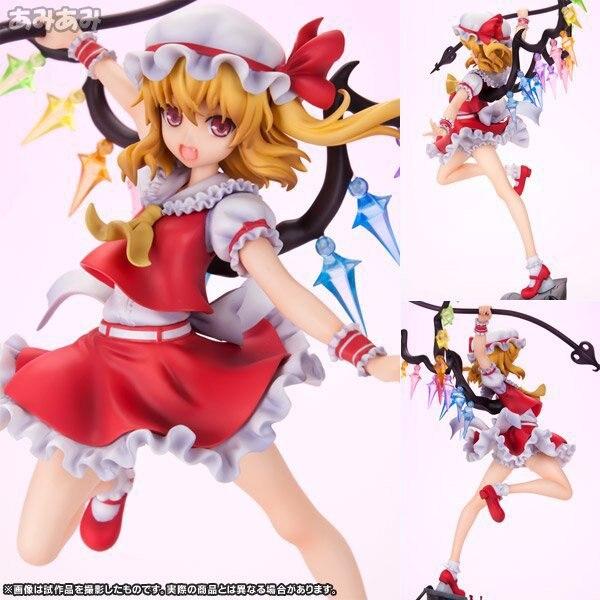 NEW hot 24 cm Touhou projeto Flandre Scarlet Action figure coleção de brinquedos boneca de presente de Natal com caixa