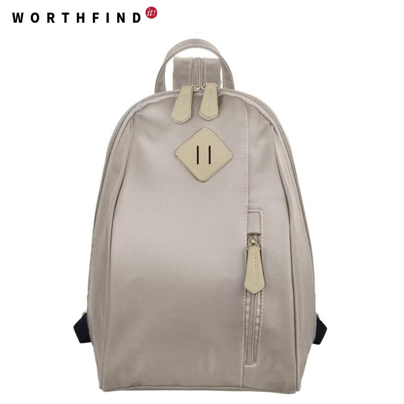 WORTHFIND 2016 New Women Backpack 4 Color Printing Backpack Cute Backpacks For Teenage Girls Fashion Little Girl School Bags
