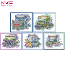 NKF cross stitch kits printed fabric 11CT 14CT Cross set embroidery needlework  Patterns Counted Cross-Stitching Home Decoration