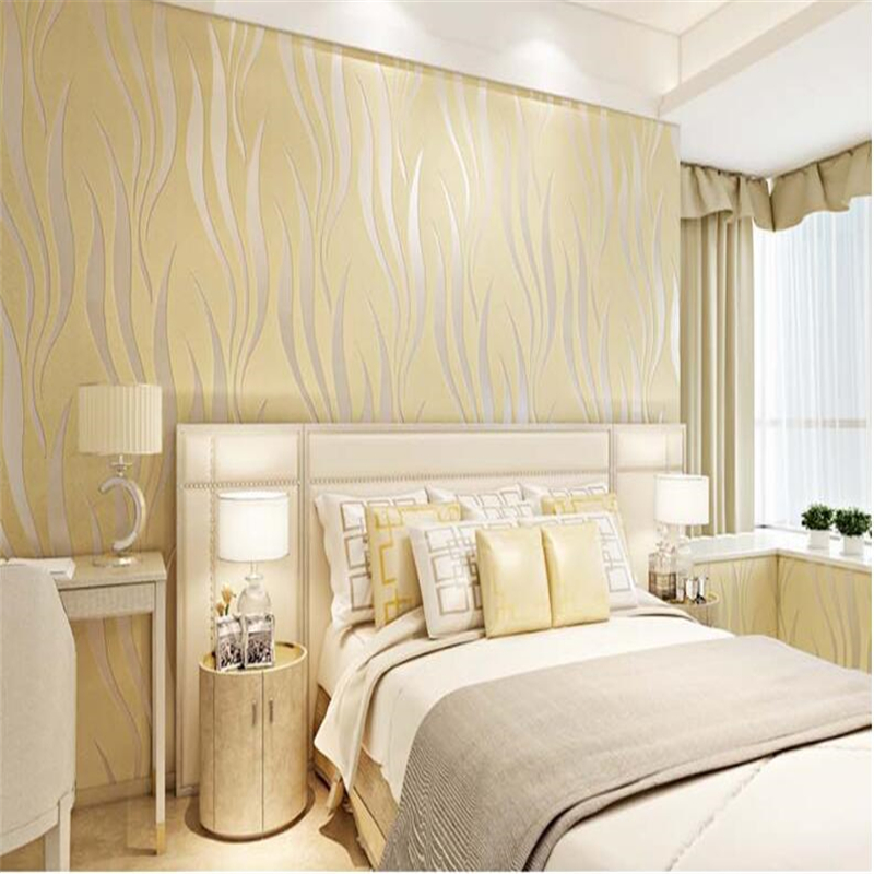 beibehang papel de parede Wall paper deerskin flocking thickening bedroom living room sofa TV setting Modern stripe wallpaper paysota modern imitation marble tile stripe 3d wallpaper bedroom living room tv setting sofa background wall paper