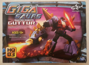 Transformation Toy Gigapower GP HQ03 HQ 03 Gutter Howling Dinosaur Spray Paint In Stock