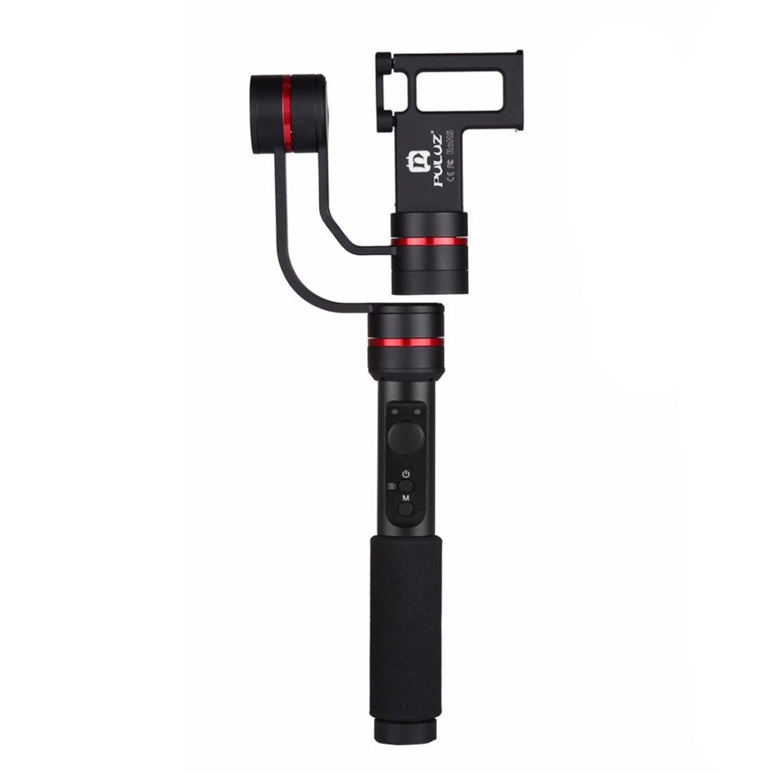PULUZ G1 3 eje Handheld Selfie teléfono Gimbal Steadicam estabilizador abrazadera de montaje para 4,7-5,5 pulgadas Smartphones, 360 grados teléfono gi
