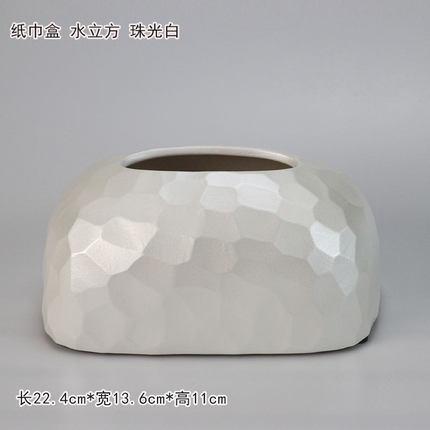 Современная керамическая золотая коробка для салфеток для дома простая гостиная ресторан отель бумажная коробка для хранения полотенец настольные украшения - Цвет: D