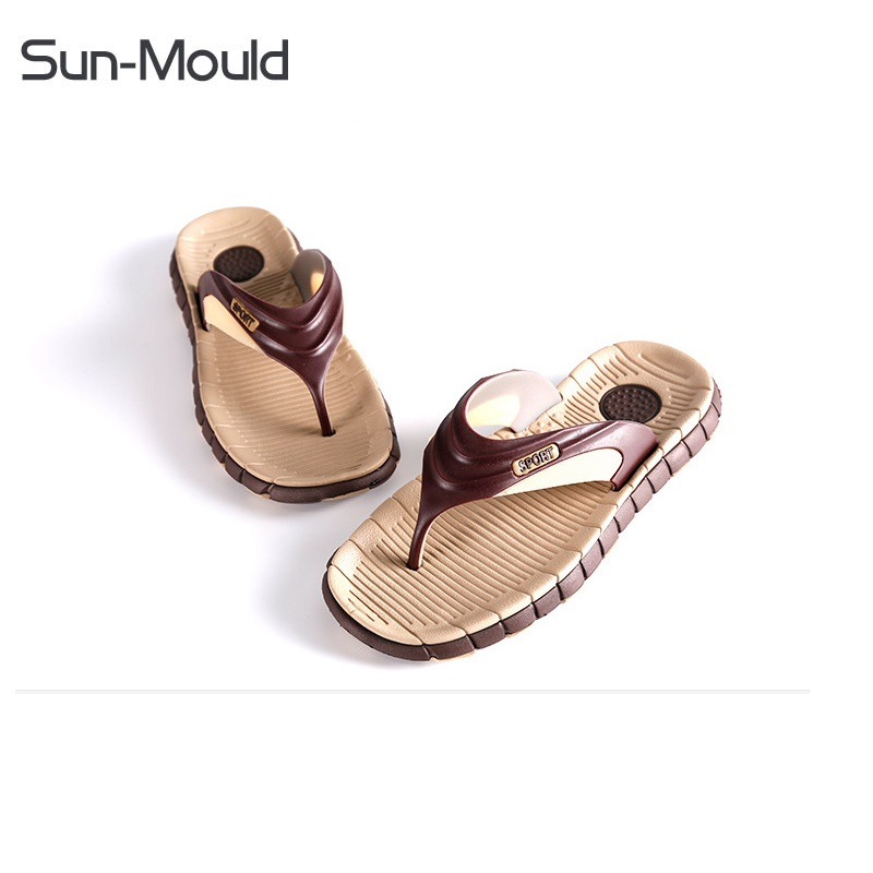 Wholesale Men Summer Slippers Shoes Home Slippers  Chaussure De Plage Homme Chaussure Mensstriped Sandals Beach Outside Slipper