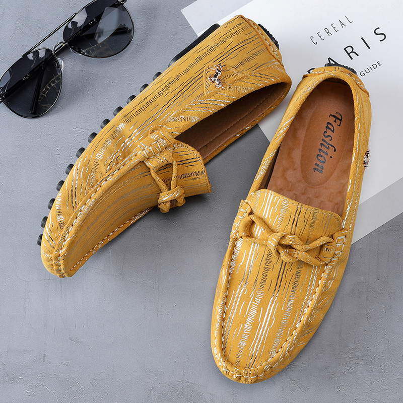 2019 Mens Shoes Casual Trendy Loafers Stylish Fashion Italian Spiked Men Gold Footwear