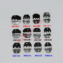 1 pcs crimper Die Sets For non-insulated open plug-type connector 0.14-16mm2 26-5AWG just suit SN48b die set crimping
