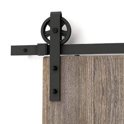150 cm-300 cm puerta corredera de gran rueda Industrial puerta de madera de Granero Puerta de armario Interior Puerta de cocina Sistema de Seguimiento de puerta Hardware