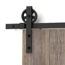 Puerta corredera de rueda grande Industrial, puerta de madera de Granero, puerta de armario Interior, Kit de Hardware, 150cm-300cm