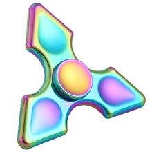 ใหม่ที่มีสีสันLimited Edition Tri-s pinnerปลายนิ้วEDCมือปั่นไทเทเนียมอยู่ไม่สุขปินเนอร์