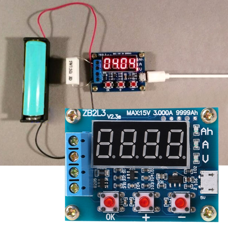 Analyseur de testeur de décharge de compteur de capacité de batterie au plomb-acide au Lithium Li-ion ZB2L3