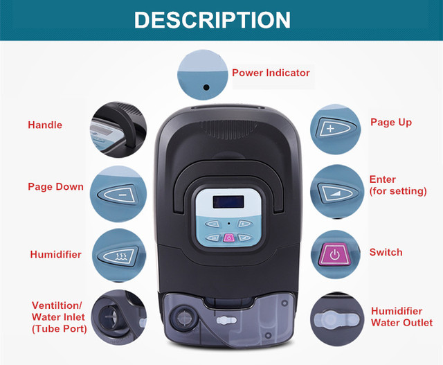 Doctodd GI APAP Machine Best Auto CPAP APAP Ventilator Portable Ventilation Continuous Automatic Positive Airway Pressure 2