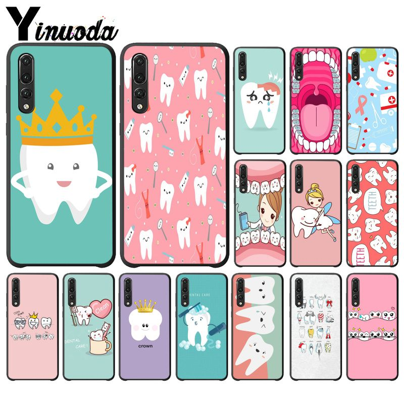 Half-wrapped Case Industrious Yinuoda Doctor Dentist Stethoscope Tooth Injections Phone Case For Huawei Mate10 Lite P20 Pro P10 Plus Honor 9 10 Mobile Cover Sophisticated Technologies