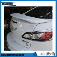 1 Piece ABS Primer Unpainted Color Car Rear Trunk Spoiler For Mazda 3 M3 2010