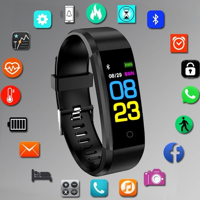 Deporte reloj inteligente de pulsera de las mujeres de los hombres para Android IOS Smartwatch Fitness Tracker electrónica inteligente de reloj banda horas Smart-reloj