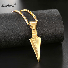 Buy gold arrowhead pendant and get free shipping on aliexpress starlord arrowhead pendant necklace goldsilverblack color stainless steel warriors arrow punk aloadofball Image collections