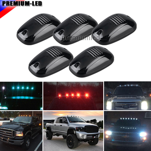 Image 1 - 5ピーススモークレンズ9SMD 3030 led cabルーフトップマーカーランニングライト用トラックsuv 4 × 4 (アンバー/レッド/ブルー/アイスブルー/ホワイト)