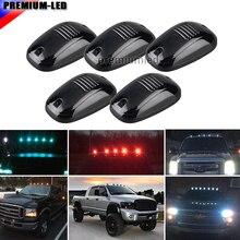 5 adet Füme Lens 9SMD 3030 LED Kabin Çatı Üst Marker Işıkları Kamyon SUV 4x4 Için (Amber /kırmızı/Mavi/Buz Mavi/Beyaz)