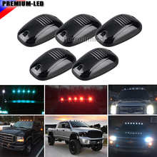 5pcs Smoked Lens 9SMD 3030 LED Cab Roof Top Marker Running Lights For Truck SUV 4x4 (Amber/Red/Blue/Ice Blue/White)