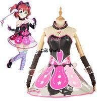 Love Live Sunshine Aqours Ruby Kurosawa Cyber Video Games Tee Tube Top Dress Uniform Outfit Anime Cosplay Costumes