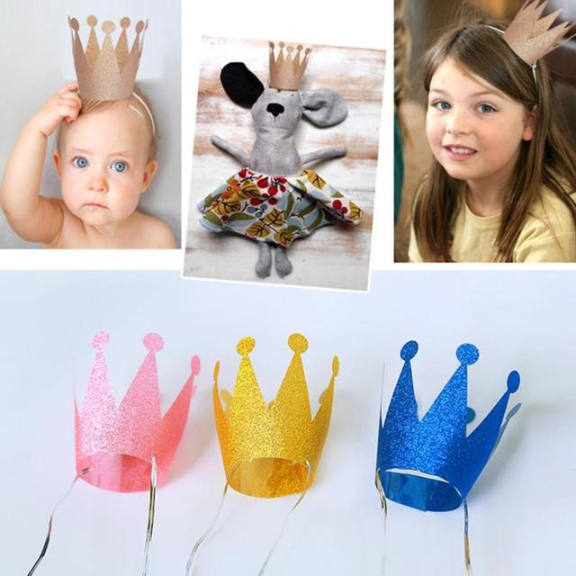 6 pz set Per Bambini Corona Di Compleanno Cappellini per feste e party di  Laurea 62bb9414fad8