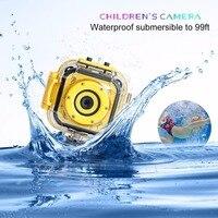 Aparat Cyfrowy dla dzieci Wodoodporne Kamery DV HD 1080 P 720 P Telefon Przechwytywania Wideo Nurkowania Konna Odkryty Sport Akcja kamera
